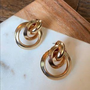 Gold 3 Loop Earrings